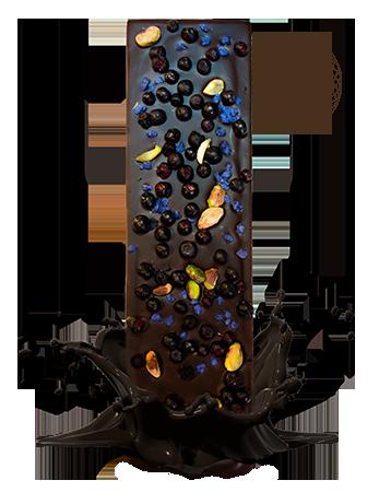 BW105 <p>Kandirana ljubičica<br />liofilizovana borovnica<br />pistaći<br />&#8212;<br />kandírozott ibolya<br />liofilizált fekete áfonya<br />pisztácia<br />